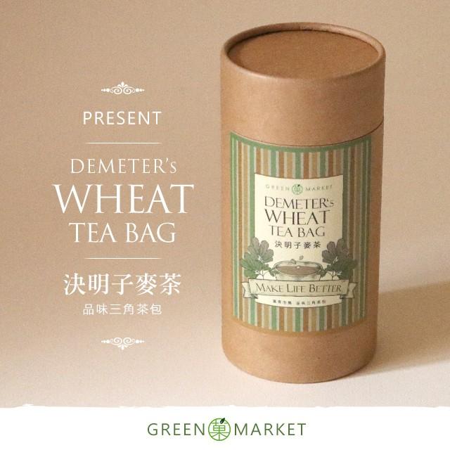 狄蜜特的麥穗 - 決明麥茶 12入罐裝 (三角茶包)