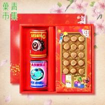 典藏罐頭禮盒(G) 日本干貝&鮑魚1罐&螺肉1罐