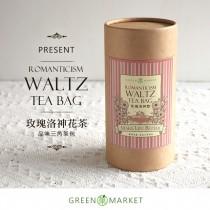 浪漫主義的華爾滋 - 玫瑰洛神花茶 12入罐裝 (三角茶包)