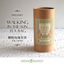 穿梭在和煦陽光下-柳橙玫瑰花茶  12入罐裝 (三角茶包)