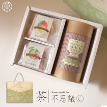 茶不思議(C)-黑森林秘境花果茶&愛文芒果乾&紅心芭樂乾-茶飲&茶點禮盒
